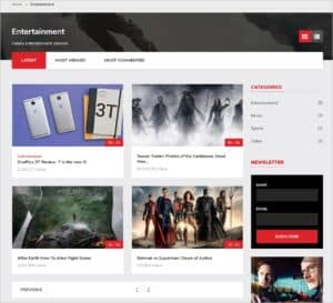 video category page