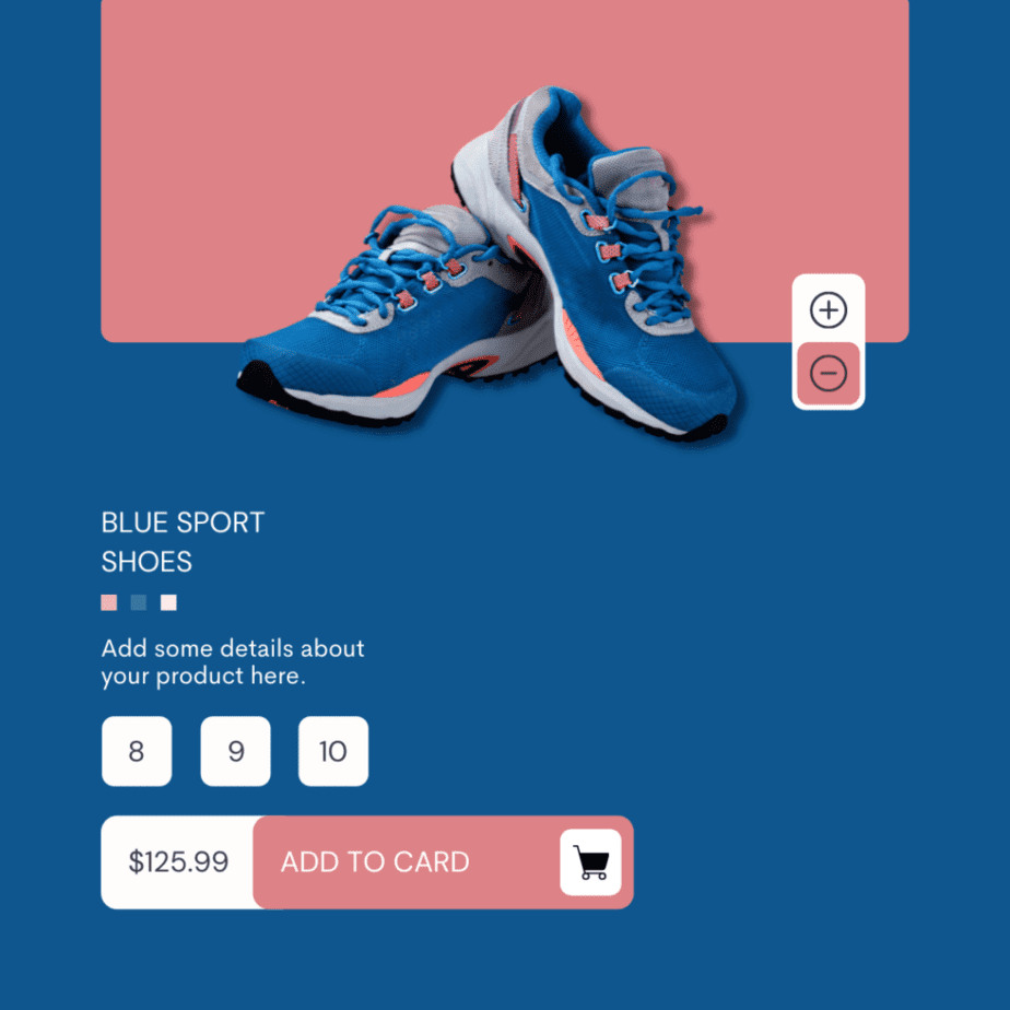 Blue And Pink Modern Product Showcase Instagram Post
