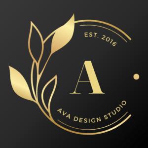 Gold Round Luxury Design Studio Etsy Shop Icon
