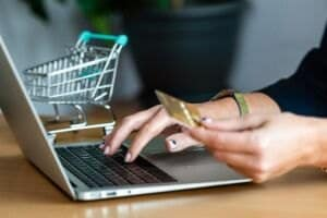 close up of a woman hands buying online with a cre 2021 04 05 20 39 46 utc