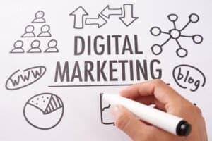 crop hand drawing digital marketing plan HW6MKV8 scaled