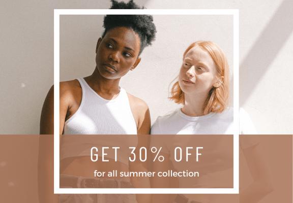 Brown Minimalist Fashion Collection Sale Instagram Post