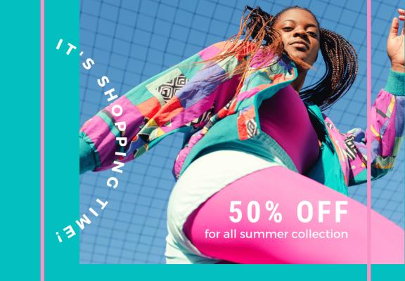 Colorful Minimalist Fashion Sale Instagram Post