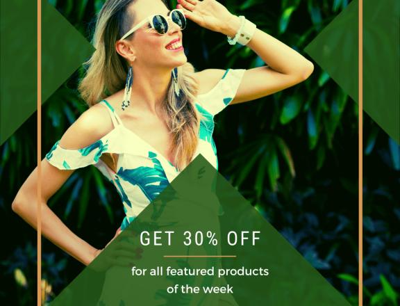 Green Minimalist Fashion Sale Instagram Post